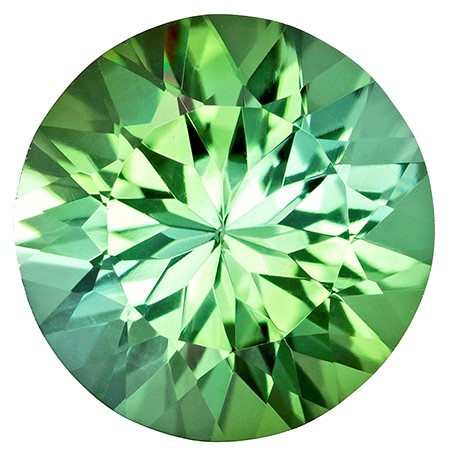 Genuine Green Tourmaline Gemstone, Round Cut, 3.08 carats, 9.9 mm , AfricaGems Certified - A Impressive Gem
