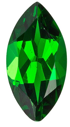 Genuine Vivid Tsavorite Gemstone, Marquise Cut, 0.79 carats, 8.5 x 4.3 mm , AfricaGems Certified - A Low Price