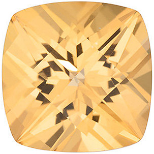 Genuine  Honey Passion Topaz Gemstone, Antique Square Shape, Grade AAA, 6.00 mm in Size