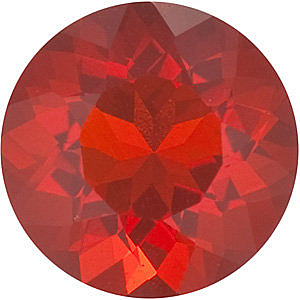 Loose Genuine Gem  Mexican Fire Opal Gemstone, Round Shape, Grade AAA, 3.50 mm in Size, 0.13 carats