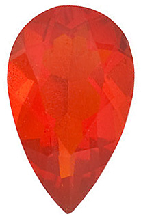 Genuine  Mexican Fire Opal Stone, Pear Shape, Grade AAA, 8.00 x 5.00 mm in Size, 0.52 carats