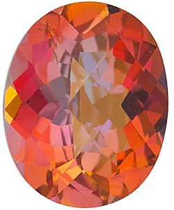 Loose  Mystic Sunrise Topaz Stone, Oval Shape Checkerboard, Grade AAA, 10.00 x 8.00 mm in Size, 3.75 Carats