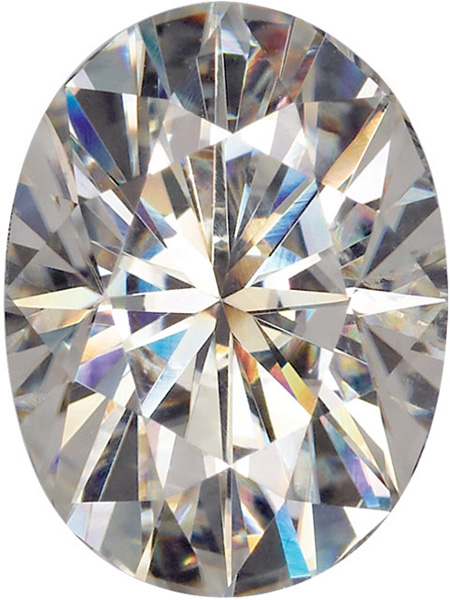 Loose Quality Near Colorless Forever One Moissanite in Oval Shape, Grade AAA, 7.00 x 5.00 mm in Size, 0.84 carats