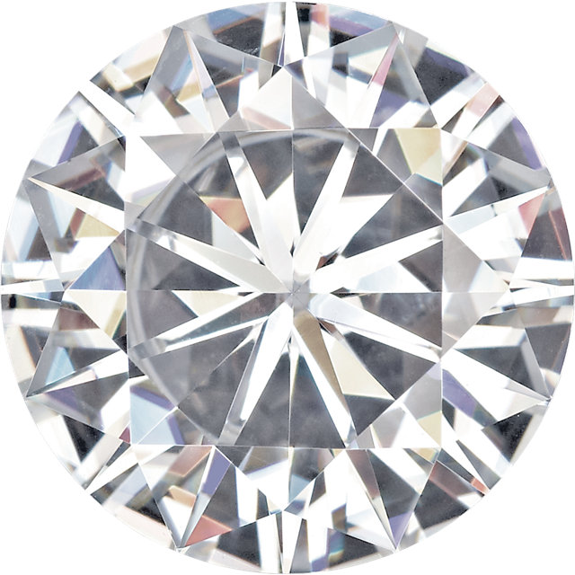 Synthetic Near Colorless Forever One Moissanite in Round Shape, Grade AAA, 5.50 mm in Size, 0.54 carats