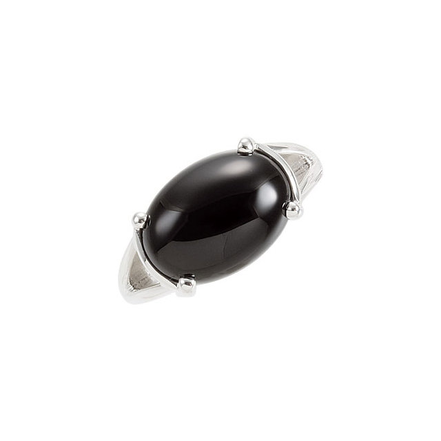 Perfect Jewelry Gift Genuine Onyx Ring