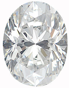 Genuine Oval Diamond - G-H Color VS Clarity