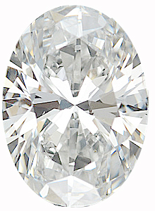 Genuine Oval Diamond - GH Color  SI1 Clarity