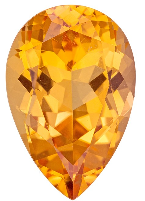 Genuine Precious Topaz Gemstone, Pear Cut, 3.56 carats, 12.1 x 8 mm , AfricaGems Certified - A Great Buy