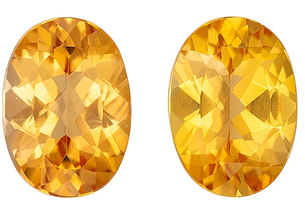 Genuine Precious Topaz Gemstones, Oval Cut, 1.74 carats, 7 x 5 mm Matching Pair, AfricaGems Certified - A Low Price