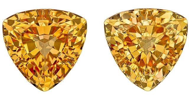 Genuine Precious Topaz Gemstones, Trillion Cut, 3.68 carats, 7.5 mm Matching Pair, AfricaGems Certified - Truly Stunning