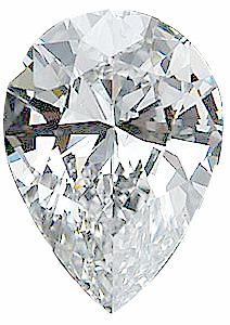Genuine Pear Diamond - G-H Color  SI Clarity