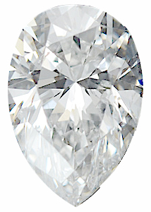 Genuine Pear Diamond G-H Color  SI Clarity