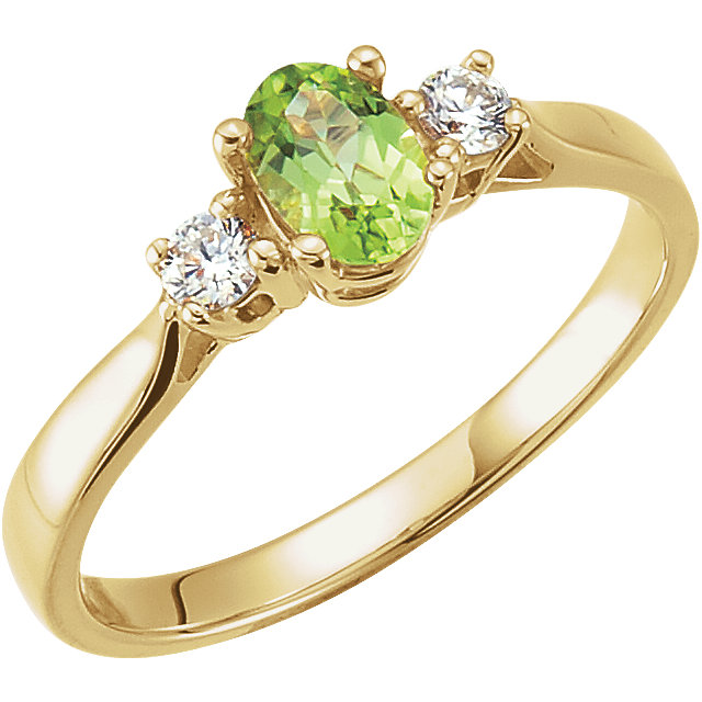 Must Have Peridot & Diamond Ring