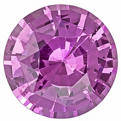 Loose Faceted  Pink Sapphire Gem, Round Shape, Grade A, 3.25mm in Size, 0.21 Carats