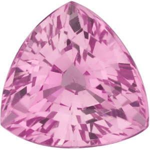 Genuine  Pink Sapphire Stone, Trillion Shape, Grade A, 4.00 mm in Size, 0.35 Carats