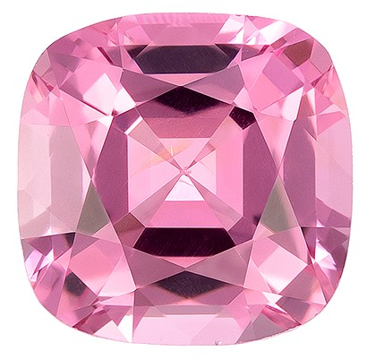 Genuine Pink Spinel Gemstone, Cushion Cut, 1.07 carats, 5.9 x 5.9 mm , AfricaGems Certified - A Low Price