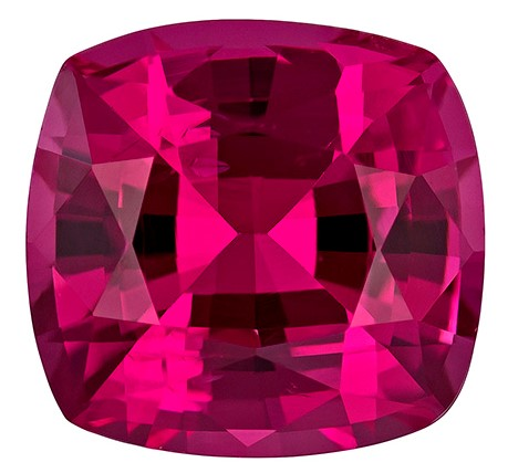 Genuine Pink Spinel Gemstone, Cushion Cut, 2.48 carats, 8.1 x 7.7 mm , AfricaGems Certified - Truly Stunning