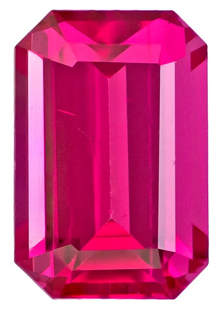 Mahenge Vivid Pink Spinel Gemstone, Emerald Cut, 1.08 carats, 6.7 x 4.5 mm , AfricaGems Certified - A Low Price