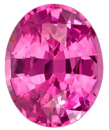 Genuine Pink Spinel Gemstone, Oval Cut, 2.22 carats, 8.9 x 7.2 mm , AfricaGems Certified - A Low Price