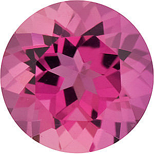 Genuine Loose  Pink Tourmaline Gem, Round Shape, Grade AAA, 2.00 mm in Size, 0.04 Carats
