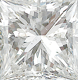 Genuine Princess Cut Diamonds in GH Color - I Clarity