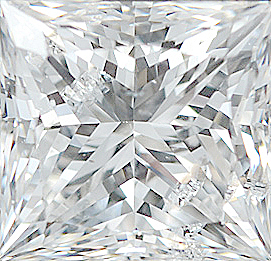 Genuine Princess Cut Diamonds in GH Color- SI Clarity