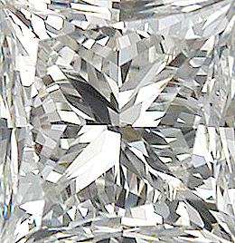 Genuine Princess Cut Diamonds in IJ Color- SI Clarity