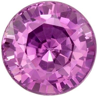 Genuine Purple Sapphire Round Cut in Grade AAA