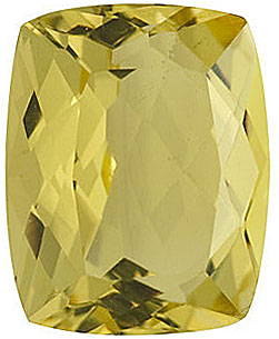 Loose Gemstone  Quality Loose Faceted Antique Cushion Shape Lemon Quartz Gem Grade AA, 10.00 x 8.00 mm in Size, 2.95 Carats