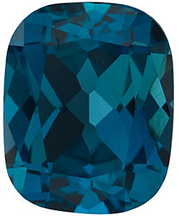 Faceted Loose Natural Genuine Antique Cushion Shape London Blue Topaz Gem Grade AAA, 9.00 x 7.00 mm in Size, 2.5 Carats