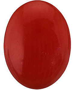 Genuine Red Coral Oval Cabochon Gems in Grade AAA