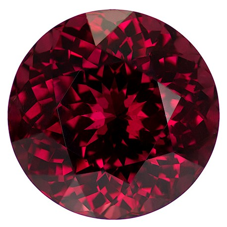 Genuine Rich Rhodolite Gemstone, Round Cut, 8.34 carats, 11.9 mm , AfricaGems Certified - A Deal