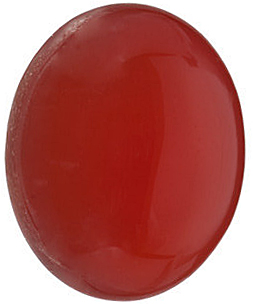 Genuine Gemstone  Reddish Orange Carnelian Gem, Oval Shape Cabochon, Grade AAA, 10.00 x 8.00 mm in Size