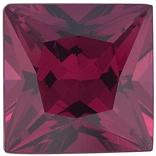 Loose Natural  Rhodolite Garnet Gemstone, Princess Shape, Grade AAA, 5.00 mm in Size, 0.85 carats