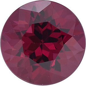 Loose Faceted  Rhodolite Garnet Stone, Round Shape, Grade AAA, 3.75 mm in Size, 0.3 carats