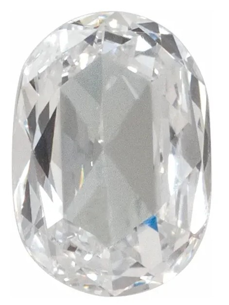 Genuine Rose Cut Oval Diamond - G-H Color SI1 Clarity