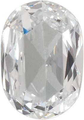 Genuine Diamond Melee in GHI Color, VS/SI1 Clarity Oval Rose Cut, 4.50 x 3.20 mm