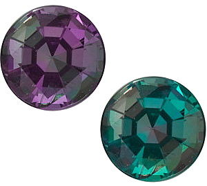 Genuine Round Alexandrite Gemstones in Grade GEM