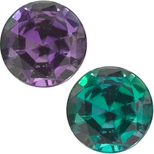 Genuine Round Cut Alexandrite in Grade AAA