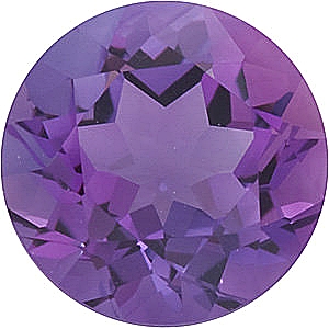 Genuine Round Cut Amethyst in Grade A