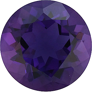 Genuine Round Cut Amethyst in Grade AAA
