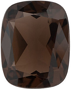 Faceted Loose  Smokey Quartz Gem, Emerald Shape, Grade AAA, 14.00 x 10.00 mm in Size, 6.25 Carats