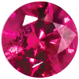Loose Genuine Gem  Swarovski Top Red Ruby Gemstone in Round Cut, 1.25 mm in Size, 0.01 carats