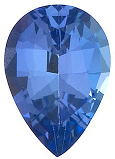 Loose Genuine  Tanzanite Gemstone, Pear Shape, Grade AAA, 6.00 x 4.00 mm in Size, 0.45 Carats