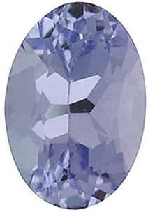 Natural Loose  Tanzanite Stone, Oval Shape, Grade B, 6.00 x 4.00 mm in Size, 0.5 Carats