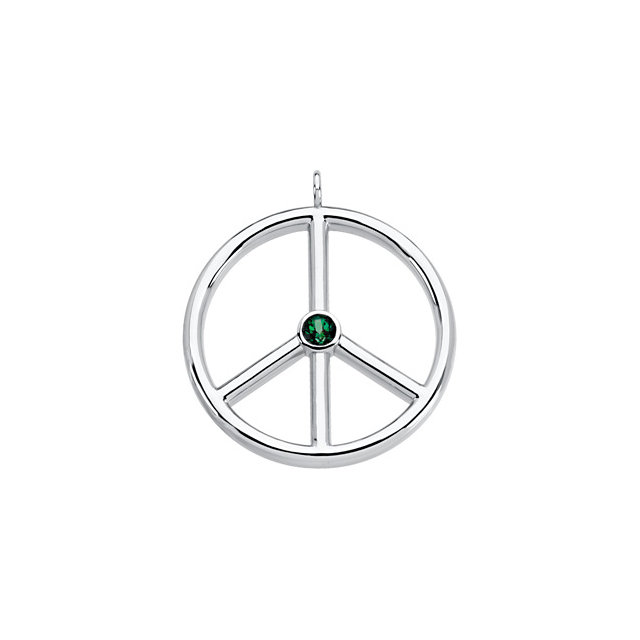 Must See Genuine Topaz Peace Sign Pendant