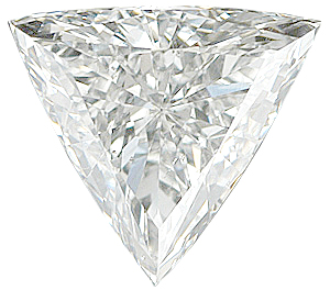 Genuine Triangle Diamond - G-H Color Grade SI2/3 Clarity Grade