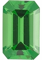 Genuine Tsavorite Garnet Gemstone, Emerald Shape, Grade AA, 5.00 x 4.00 mm in Size, 0.45 carats