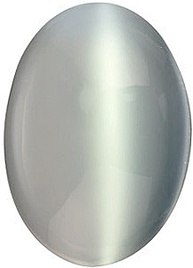 Genuine White Moonstone Oval Cut  in Grade AAA