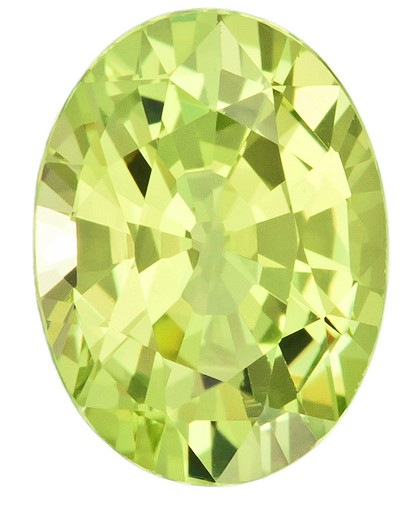 Genuine Yellow Chrysoberyl Gemstone, Oval Cut, 2.82 carats, 9.9 x 7.4 mm , AfricaGems Certified - A Low Price
